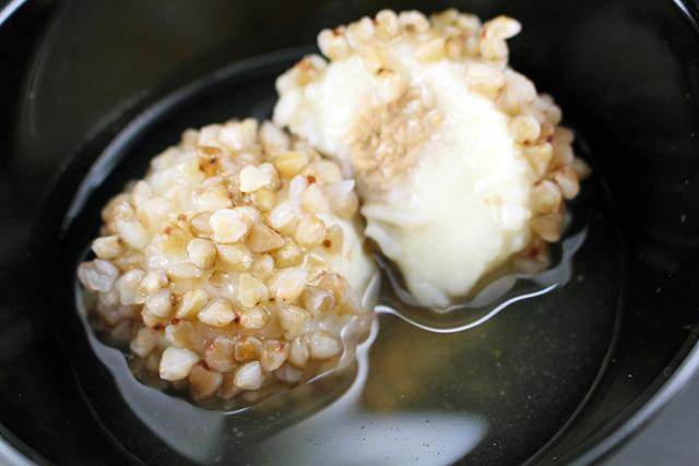 そば米,雑穀,そば米饅頭