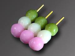 春,三色串だんご,弁当,お花見
