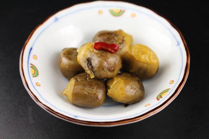 小茄子,ピリ辛,小鉢,漬け物